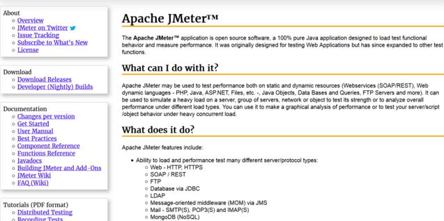 JMeter website