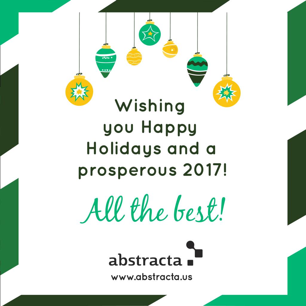 Happy Holidays from Abstracta