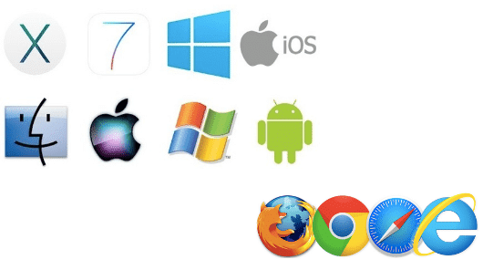 different operating systems and device brands