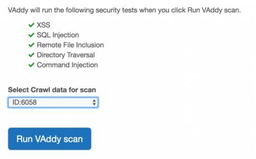 run VAddy scan