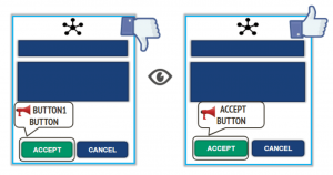 accessible mobile UI design example 1