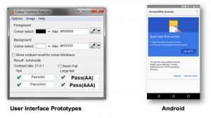 accessible mobile UI design tools color contrast