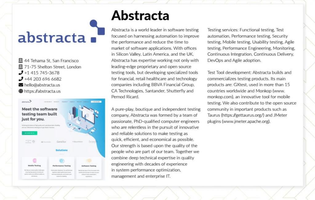 abstracta top testing provider