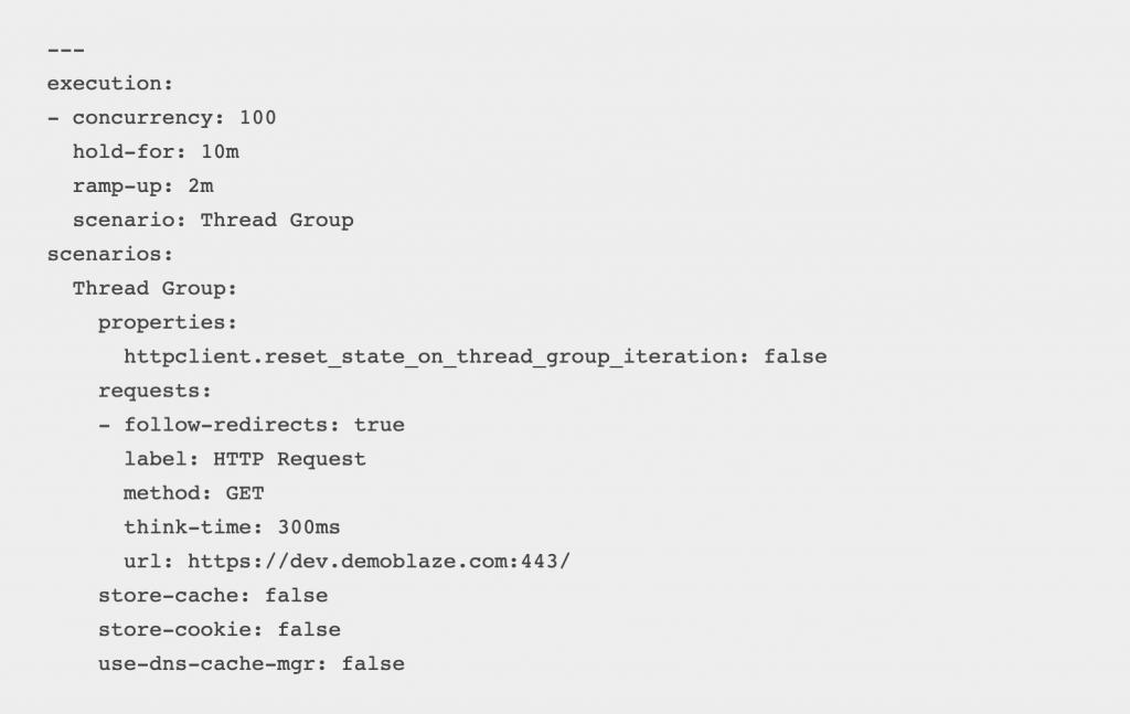 taurus script YAML code