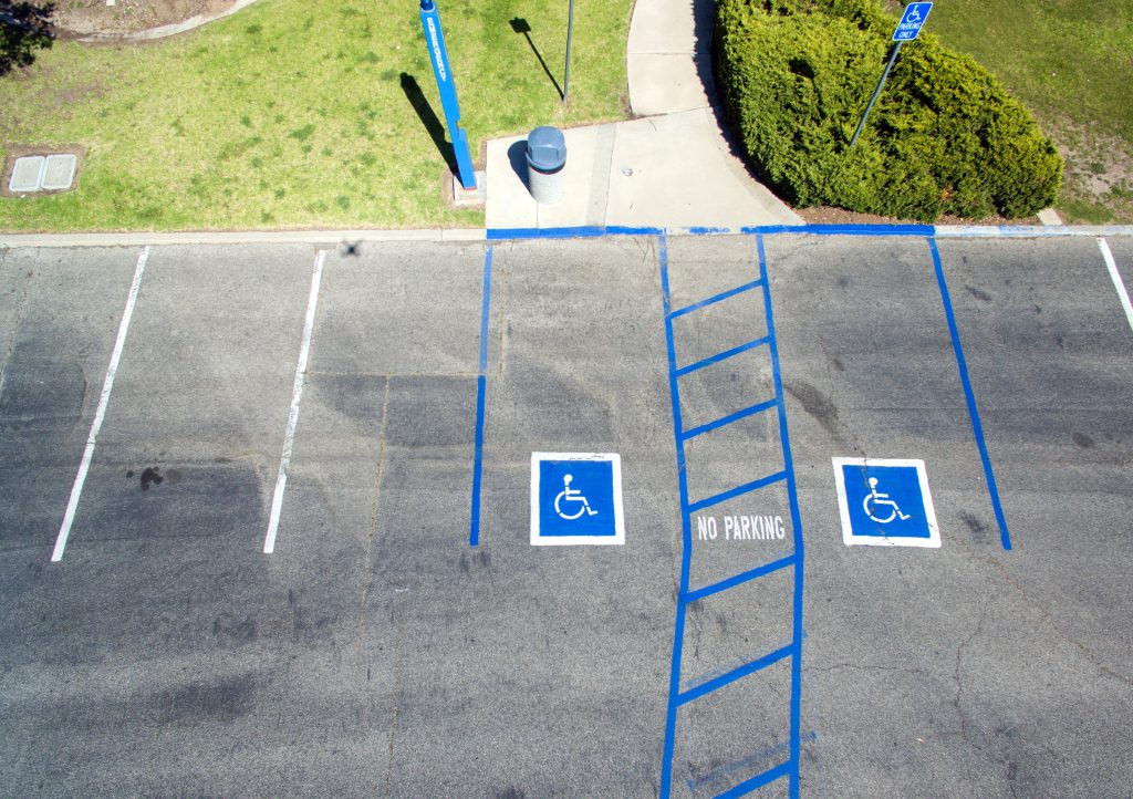 accessible parking space photo