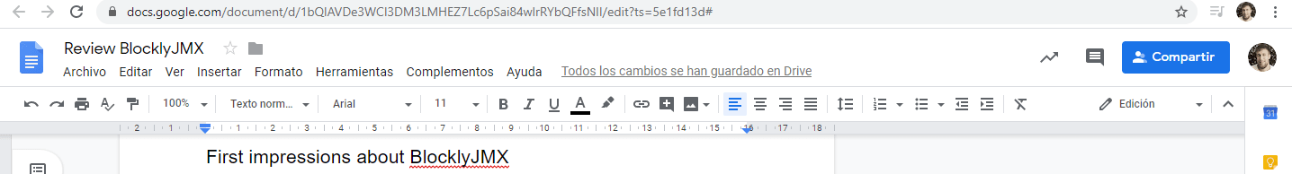 google docs nav bar screenshot