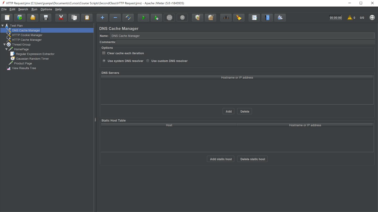 jmeter interface