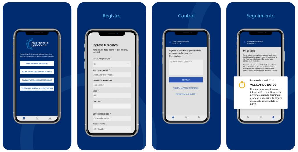 the coronavirus UY app