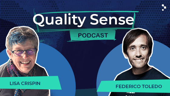 lisa crispin quality sense podcast episode featured image