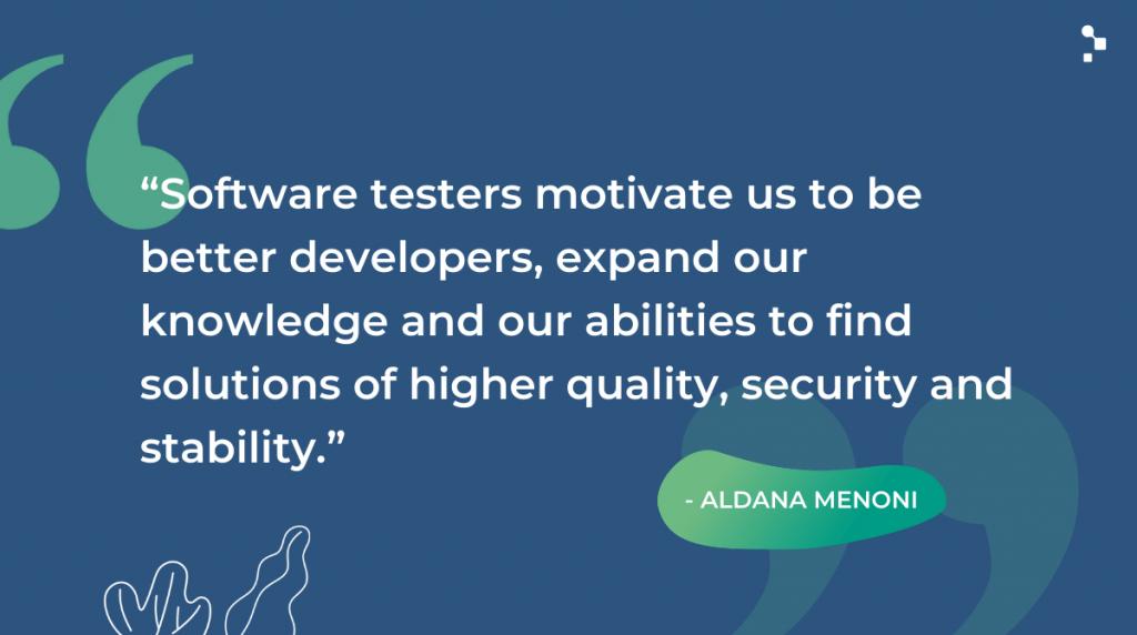 Aldana Menoni Quote on Software Testing