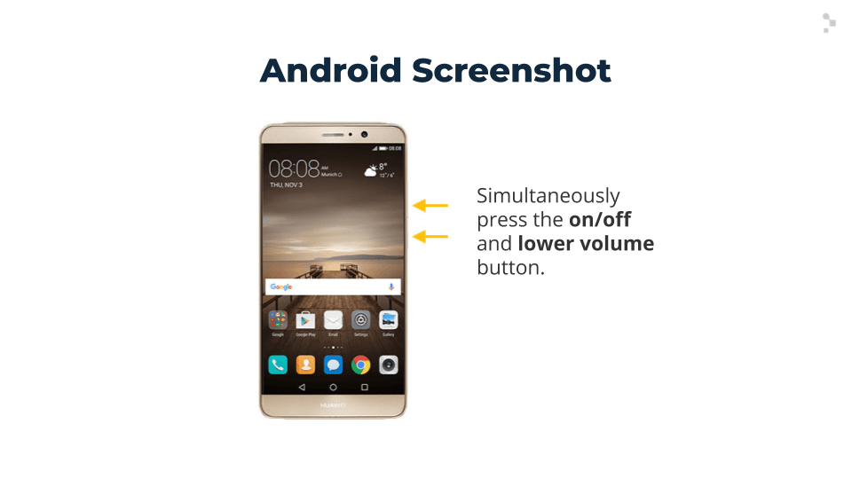 diagram of Android screenshot