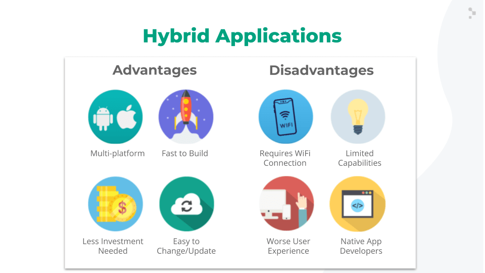 hybrid apps advantages and disadvantages slide