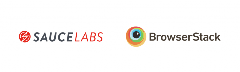 saucelabs and browserstack logos