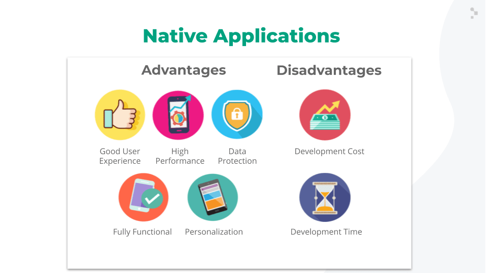 native apps advantages and disadvantages slide